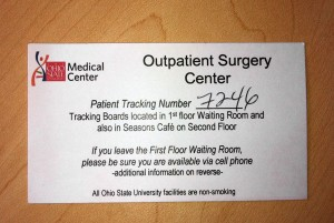 outpatient surgery number